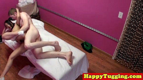 Real tattooed asian masseuse on spycam HD
