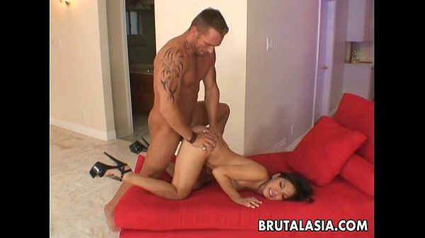 Busty Asian whore gets her pussy pumped good