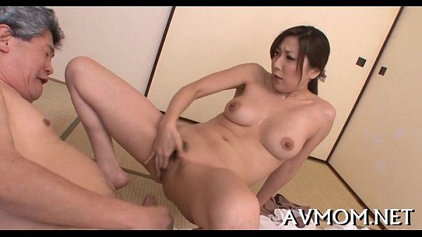 Gorgeous asian babe licking cock