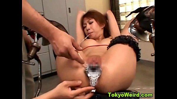 Humiliated fetish asian speculum