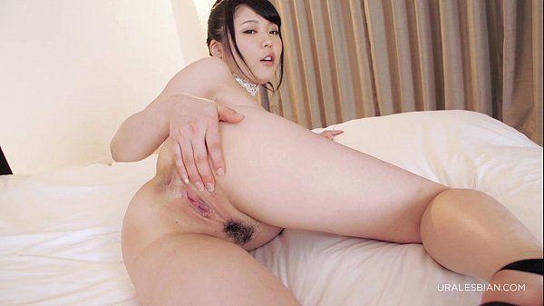 Nude lesbians on the bed. Yui Kawagoe & Aiku Kisaragi
