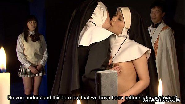 Two nuns scissor fucking each other\