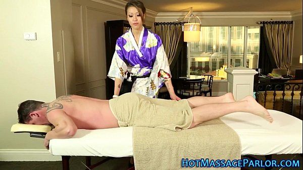 Busty asian massages dick