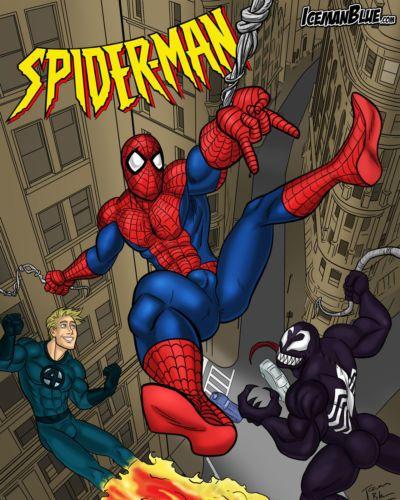 Iceman Blue Spider-Man