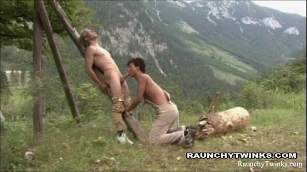 Horny Twinks Couple Sex Outdoors