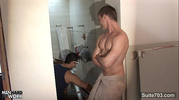Sexy gay worker getting fucked and jizzedHD