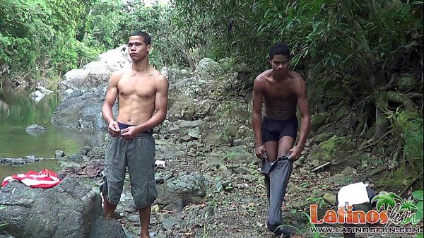 Young latinos fucking in the woods and river