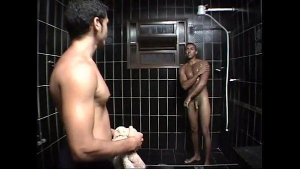 Furious pounding with hot studs from brazil in the bathroom