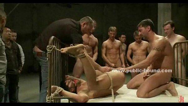 Experienced gay hunk domination bondage
