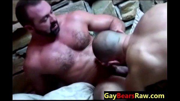 Throat fucking raw gay bears