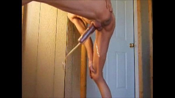 Pumped Big Cock Pissing and Self Anal Piss Fucked