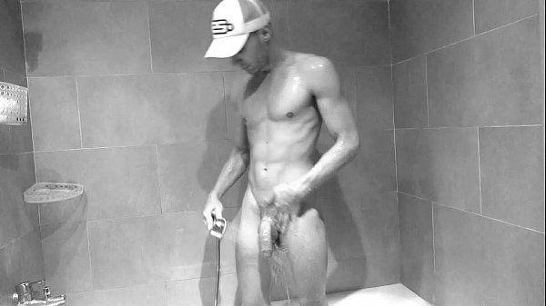 Big cock under shower