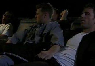 bareback orgy at german movie theatre