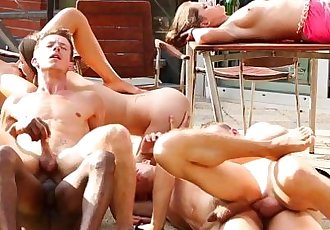 Hot bisexual group fuck hard