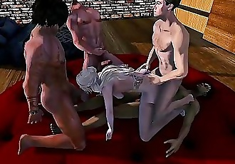 Second Life gangbang 11 min HD