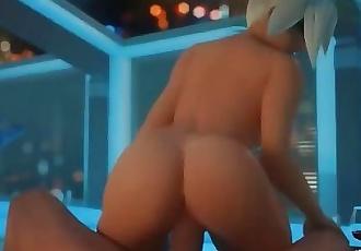 Overwatch Mercy Reversed cowgirl fuck