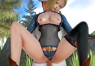 Dragon Ball Android No. 18 Hentai 3D