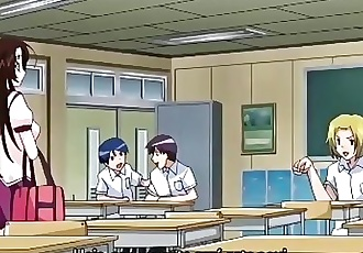 Hentai girl uses a dildo in class