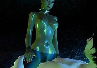 Black Mamba 3D Girl Goes Down On Her White BF!