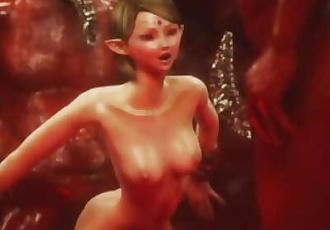 3D Terrifying Demons Fuck Elf Teens!