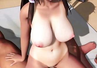 MMD SEX Touhou Reimu Hakurei Rides Her Lovers Cock