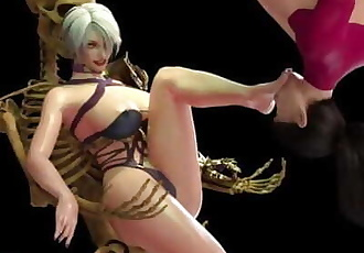 Ivy punishes hanging Taki with her feet