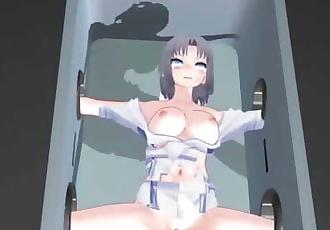 MMD SEX Senran Kagura Yumi Fucking Machine Dildo Torture