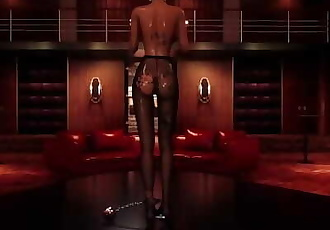 DOGGYSTYLE IN PUBLIC STRIP CLUB BRUNETTE HUGE BOOBS TINY ASS 3D HENTAI GAME