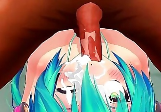 Hatsune Miku Poolside 2-3 Blowjob