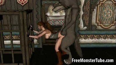 3D Red Riding Hood gets fucked by the Big Bad Wolfd 720-high 1 - 3 min