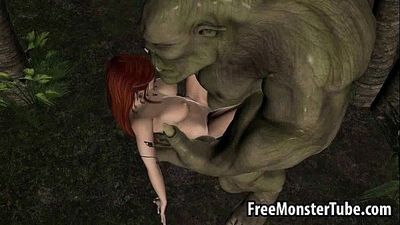 3D redhead elf babe getting fucked hard by a monsterSY-high 2 - 3 min