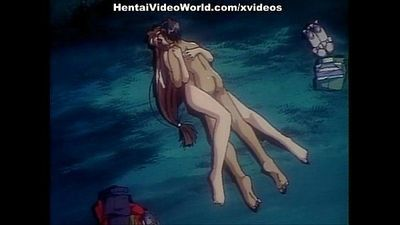 Sexy hentai action on the seashore - 7 min
