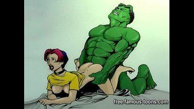 Famous cartoon superheroes porn parody - 5 min