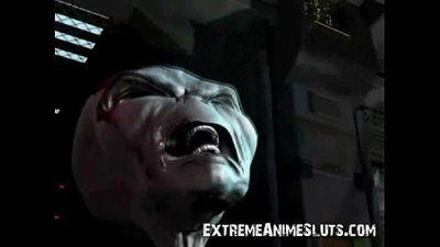 Alien Fucks 3D Busty Girl! - 2 min