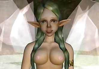 3D Futanari Fairy Shows Her Cum Magic!