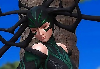 Dead or Alive 5 1.09BH - Hela Relax by a Tree on the Beach