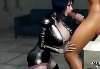 Hentai Big Tits Blowjob 3D Sex Game 4 min
