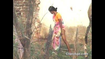 local desi aunty saree up and pissing voyeur - 59 sec