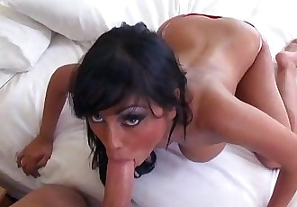 Priya Rai gets motuh filled during a blowjob with a big dick