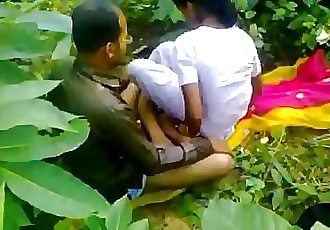Indian school girl fucking teacher in outdoor sex 5 min HD