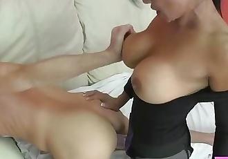 Sex Therapist Jasmine Shy Pegs Lance Hart and Milks Him On Her Tits