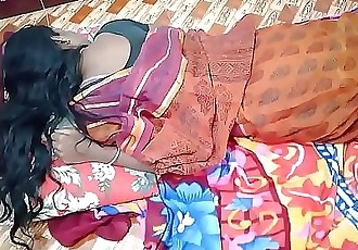 indian House wife sharing bed with her Husband friend when his husband deeply sleeping 10 min