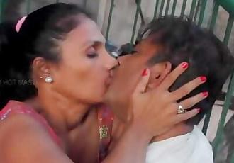 Hot desi shortfilm 338 - Mature aunty boobs squeezed hard, pressed & kissed