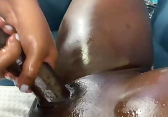Big Black Cock Worship - Oil Massage Edition Part 3
