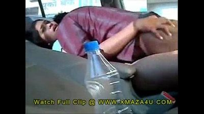 Desi Indian Brother Fucking sister in the Car Outdoors - 4 min