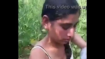 Desi girl removing clothes in field. - 1 min 44 sec