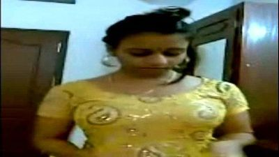 Gorgeous Indian Aunty Getting Dressed front of neighbour boy - 2 min