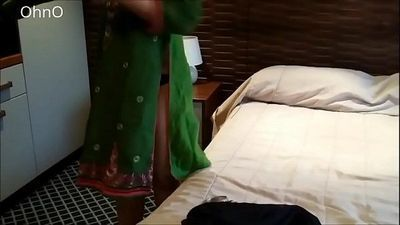 Hot Selina Begum Exposing Her Ass in Green Shalwar Kameez High Heels - 1 min 39 sec