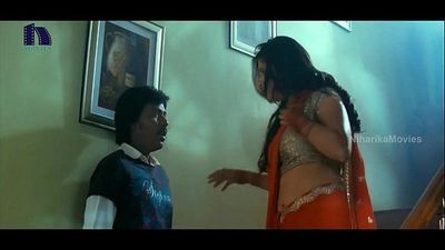 Lakshmi Rai In Red Saree Lawrence And Lakshmi Rai Romantic Kanchana Movie Scenes - 2 min