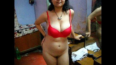 Bengali Indian Bhabhi Sexy Savita In Red Lingerie - 36 sec